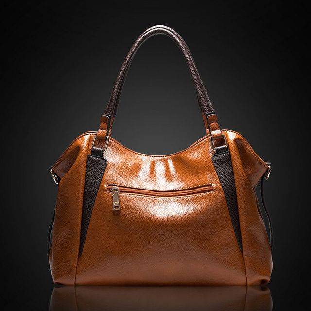 Fashion Simple Women Leather Big BagHandbag Elegant Casual Ladies' Tote Shoulder Bag Messenger Bag~16B26