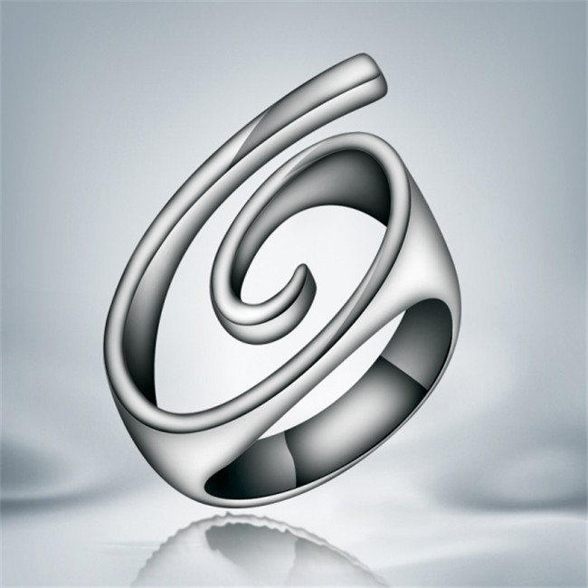 personality design silver snail finger ring Top quality fashion party jewelry factory wholesale price
