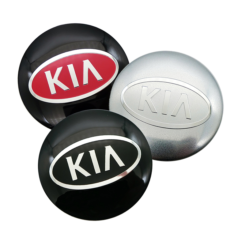 Car Styling 4pcs 56mm Car Wheel Center Cover Hub Cap Resin Badge Emblem Sticker For KIA Cerato Sportage R K2 K3 K5
