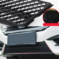 For Honda Civic 10th 2016 2017 2018 Car Insect Screening Mesh Front Grille Insert Net Accessories Car Stylings