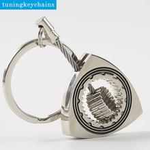 Цинковый сплав полый провод шестерни Wankel Вращающийся брелок ротор брелок с кольцом для ключей(ротор может вращаться