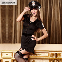 2017 womens sexy role play sex wear cosplay sexy costume sexy police costumes for women sexy lingerie 3 Pieces Set