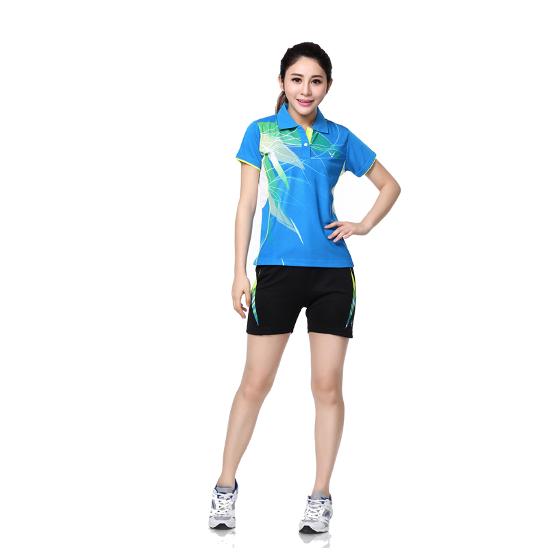 RACE WAY shirt shorts female badminton badminton clothing sportswear sports  suit / casual / tennis suit / shirt + shorts 3XL,in Tennis Shorts from  Sports