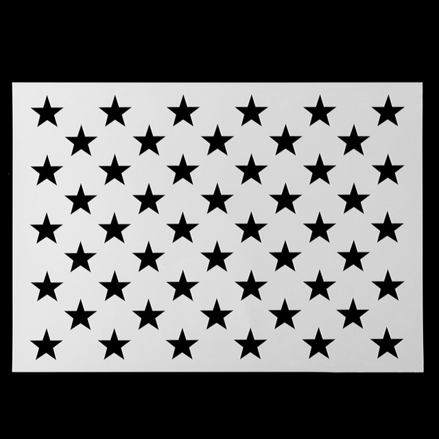 e28d3373a524 DIY American Flag 50 Stars Stencil for Painting on Wood
