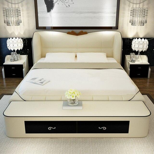 Schlafzimmer möbel sets modernen leder königin größe ...