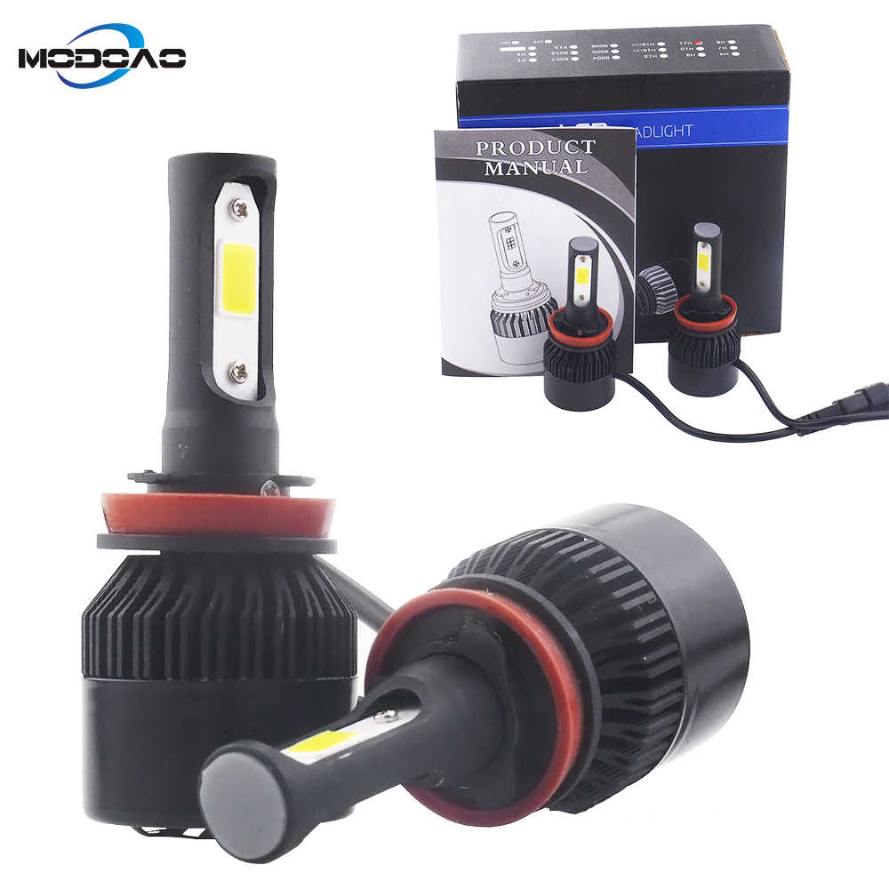 Modoao H4 led h7 headlights h1 led bulb car light h3 hb4 h11 led lamp for auto 12V h27 880 9006 9005 hb3 h9 h8 h13 HB5 72W bulb