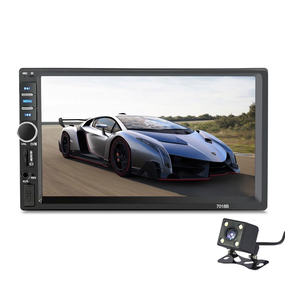 Konnwei 2 DIN общие моделей автомобилей 7 ''дюймовый ЖК-дисплей Сенсорный экран автомобиля Радио плеер Bluetooth Аудиомагнитолы автомобильные Поддержка заднего вида Камера