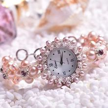 цена на 2020 Original New Pearl Jewelry A Undertakes To Pink Bracelet Watches The Spot Wholesale Female Table Quartz Watch Hot Style