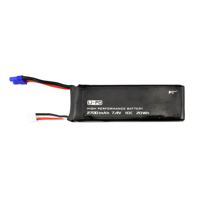 CHAMSGEND 1 pc Black 7.4V 2700MAH 10C Battery With EC2 Plug for Hubsan H501S X4 may 26 P30 7 4v 2700mah 10c battery ec2 plug durable for hubsan h501s quadcopter rc drone an88