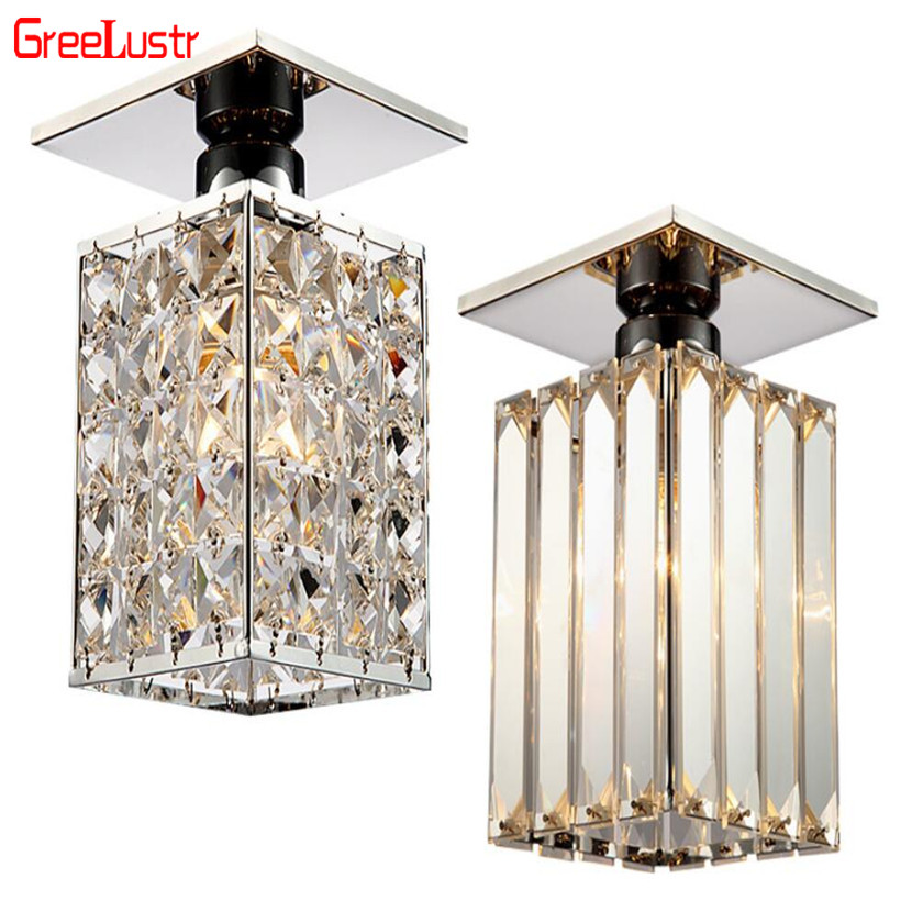 Led Ceiling Light Crystal Mordern Ceiling Lamps Nordic Plafon Luminaria De Teto for Hall Passway Bar