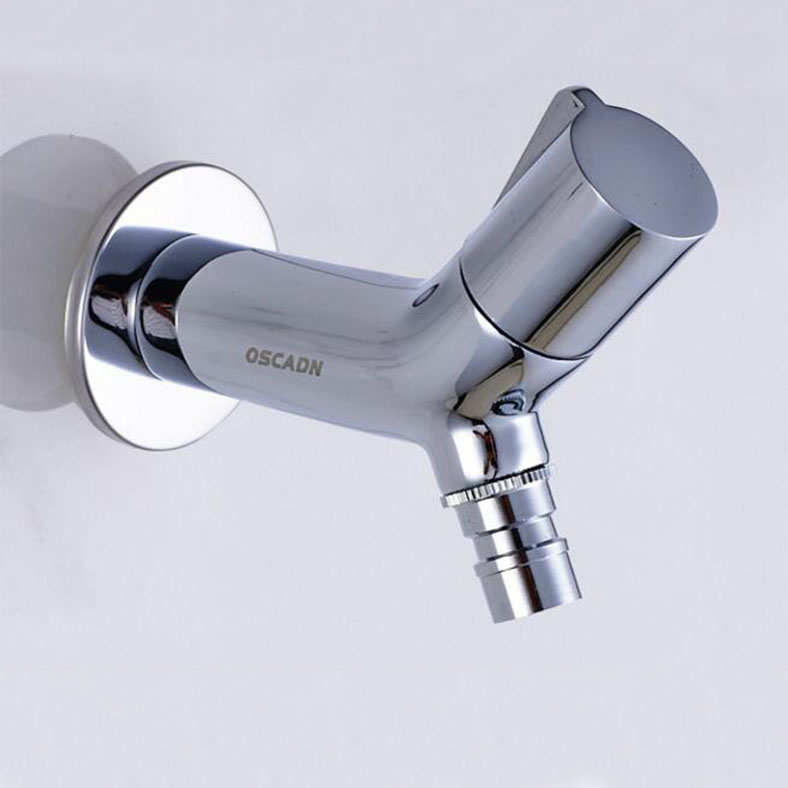 Fee Shipping Chrome Bibcock Faucet Brass Wall Mounted