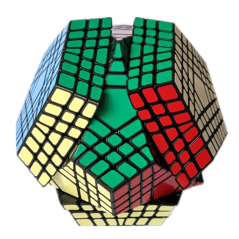 Shengshou Wumofang 7x7x7 magiczna kostka Teraminx 7x7 profesjonalne dwunastościan Cube Twist Puzzle zabawki edukacyjne w Magiczne kostki od Zabawki i hobby na  Grupa 1
