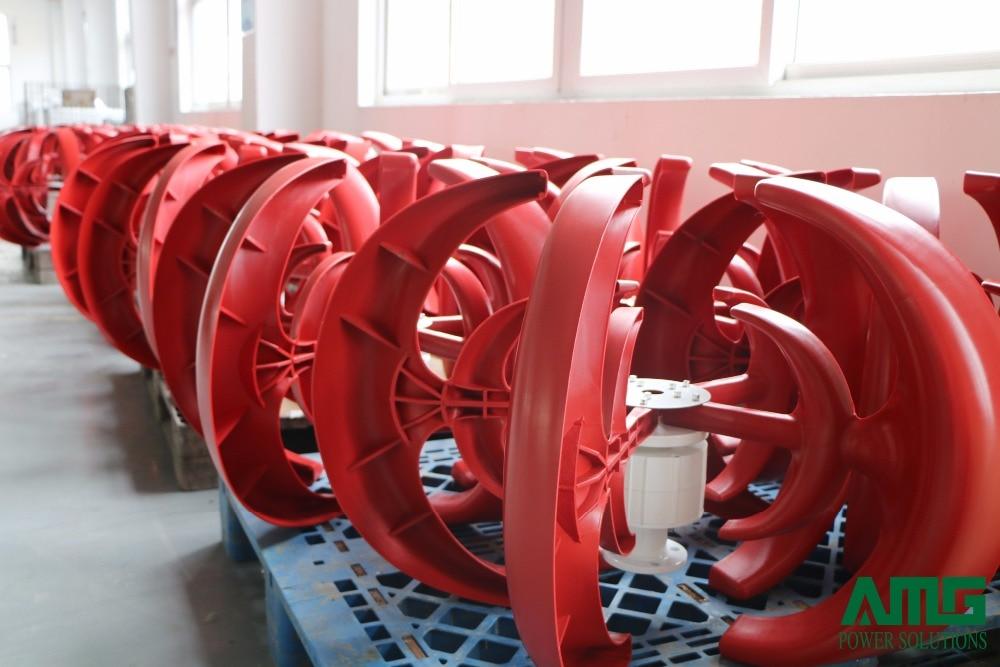 Générateur de Turbine de moulin à vent résidentiel d'axe Vertical de 300 W 12 V/24 V + contrôleur Intelligent imperméable de chargeur de vent - 5