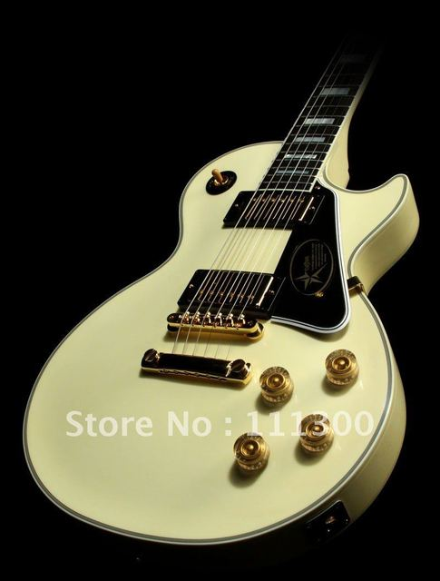 guitar Musical Instruments Custom Shop '68 VOS, Vintage White yellow electric guitar