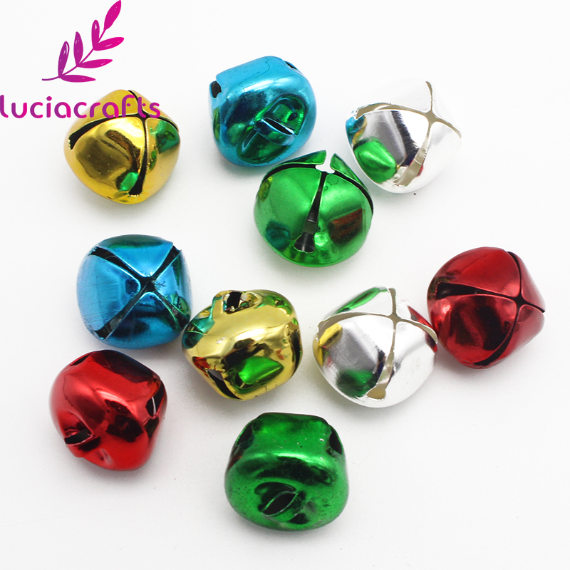 300pcs Mini Christmas Jingle Bells Bulk for DIY Craft Assorted Loose Beads Jewelry Charms Bells for Festival Wedding Decorations,6mm