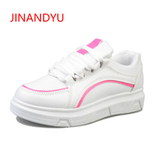 Womens Shoes White Sneakers Platform Spring Autumn 2018 New Female Flat Casual Canvas Thick Bottom Cool Lady Sneaker
