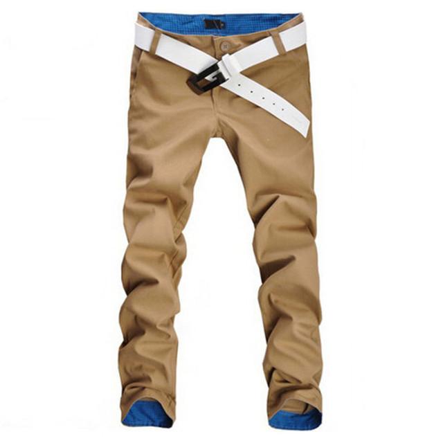 2017 Dos Homens Venda Quente Calças de Algodão Casuais Slim Fit Estilo Reto alta qualidade novo design de moda mens calças 9 cores tamanho 29 ~ 34