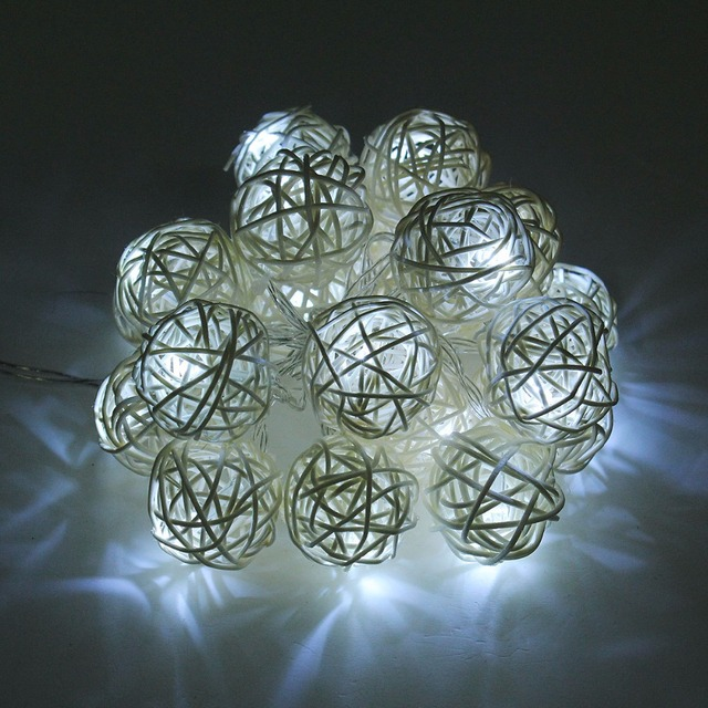 Led lampen Led string lampe Lichter Clip Foto Rattan Ball 20 - lampen ausen led 2