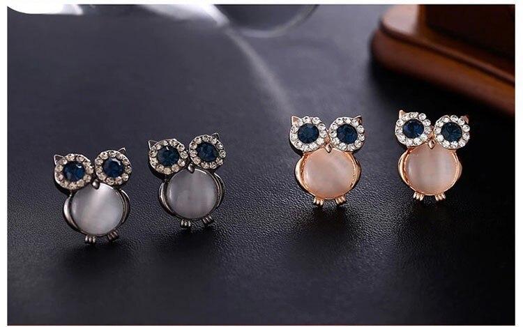 Design Owl Zinc Alloy Earrings