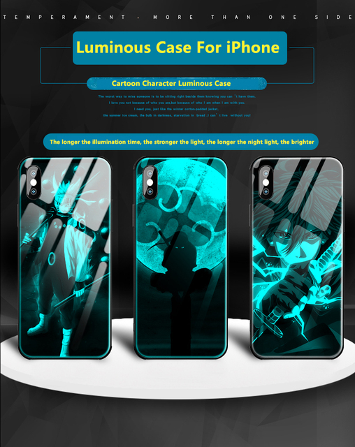 Sasuke Luminous Phone Case For iPhone Models