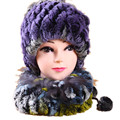 H756-new arrival covering cap or scarf.  thicken  female autumn winter fashion natural rex rabbit fur hat