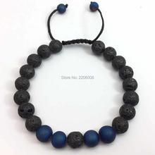 Lava Stone Beads Tiger Eye Spar Buddha Beads Bracelet Charm adjustable vil Eye Natural Stone Bracelet Hamsa Lava stone