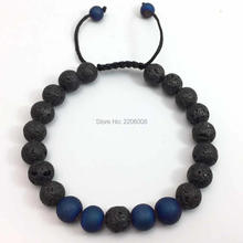 Lava Stone Beads Tiger Eye Spar Buddha Beads Bracelet Charm adjustable vil Eye Natural Stone Bracelet Hamsa Lava stone(China)
