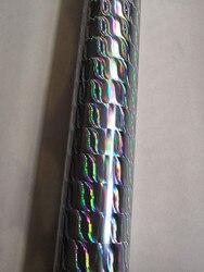 Holographische folie silber farbe surge muster B11 heißer drücken sie auf papier oder kunststoff 64 cm x 120 m stanzen folie