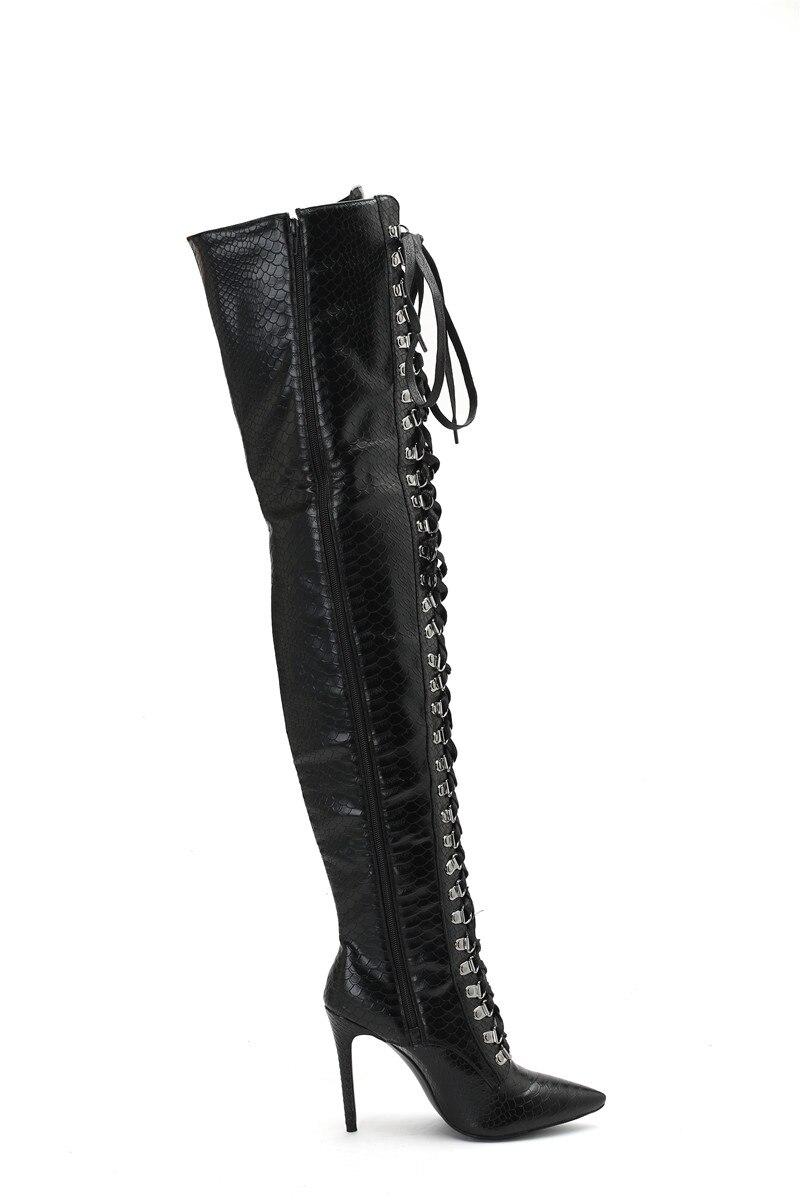 Karinluna Pointu Sexy La Chaussures Genou Le Plus Mode Talons Bottes Taille Zip Bout 47drophsip Femme Up Noir Mince Sur 2019 34 w8kNXZOnP0