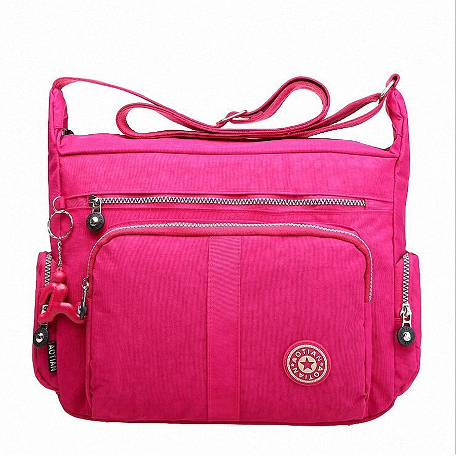Waterproof Nylon Women Messenger Bag Shoulder Bag Female Pillow Patchwork Adjusted Strap Travel Beach Bag Bolsas