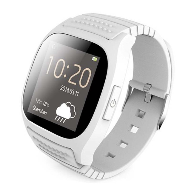 Rwatch M26 Relógio Inteligente Bluetooth Smartwatch M26 com Display LED Barómetro Alitmeter Music Player para Android IOS Telefone Móvel