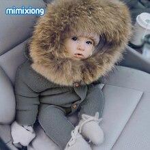 Детские комбинезоны, вязаная одежда, Осенние Комбинезоны с длинным рукавом для новорожденных мальчиков и девочек, детские комбинезоны с капюшоном, однотонные комбинезоны для малышей, детские комбинезоны, Топ