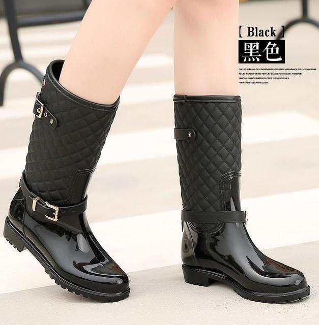 womens wellington wellies boots fur gingham waterproof