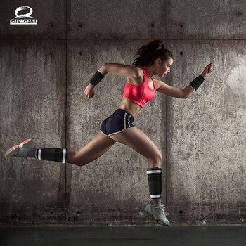 Kostki/obciążniki na nadgarstki (1 kg/para) dla kobiet, mężczyzn i dzieci-w pełni regulowany waga na ramię i nogę-najlepsze na spacery, Jogging
