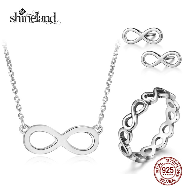 Aliexpress Buy Shineland Fashion Infinity Symbol Necklace