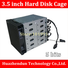 2pcs-Free Shipping DHL/EMS Hard Disk Cage 3.5» Hard Disk Drive Mounting Bracket Kit Save Space Put in 5PCS hard drives