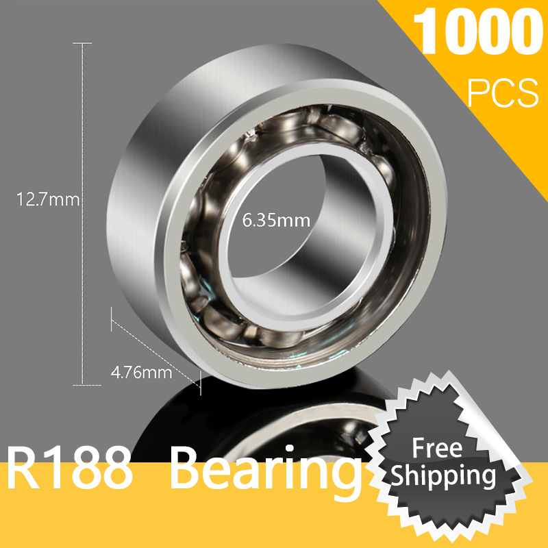 1000pcs R188 Bearing For Skateboard Fingertip Gyro Decompression Copper Fidget Spinner Anxiety Stress Relief free shipping high quality stainless steel 4pcs side door streamer door protection bar for toyota highlander 2007 2011