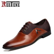 Демисезонный Модные мужские нарядные туфли с острым носком высокое качество мужские деловые туфли-оксфорды для мужчин Zapatos повседневные туфли на плоской подошве