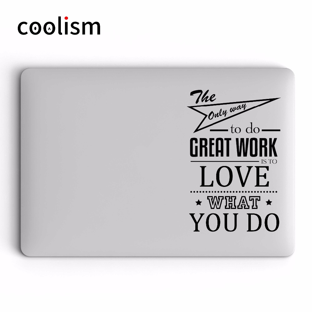 Motivational Quote Laptop Sticker for Apple MacBook Decal Pro Air Retina 11 12 13 15 inch for Xiaomi Mac HP Notebook Vinyl Skin