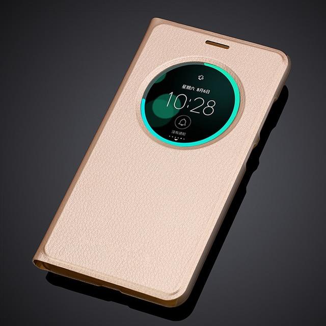 finest selection 8ce07 4ddf6 US $2.96 20% OFF|case for asus zenfone 3 Laser ZC551KL PU leather flip  cover smart wake up window for ASUS ZenFone 3 Laser phone cases-in Flip  Cases ...