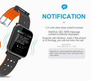 Image 4 - BINSSAW A6 Smart Watch with Heart Rate Monitor Fitness Tracker Blood Pressure Smartwatch Waterproof For Android IOS PK Q8 V6 S9
