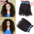 Mongol Cabelo Encaracolado Kinky 4 Bundles Afro Kinky Curly Virgin cabelo Encaracolado Mongol Feixes de Cabelo Humano Tecer Encaracolado Afro Crespo cabelo