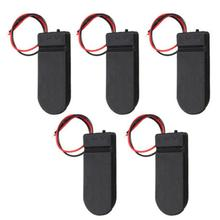 цена на CR2032 Button Coin Cell Battery Socket Holder Case Cover with ON/OFF Switch Battery Holder Case Box Storage Boxes