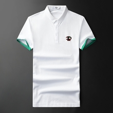 Men's Fashion 2019 Polo Shirt New Arrivals Pure Embroidered Cotton Slim Fit Men Polo Shirt Short Sleeve Brand Clothing F9987 недорого