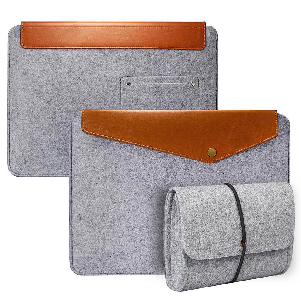 Panas 11.6 13.3 15.6 inci sejagat Lengan dirasai Beg Untuk Macbook Pro Air acer ultrabook Laptop Case Membawa kantung dengan beg pengecas