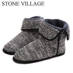 New Arrival 2018 High Quality Plus Size EU 39-45 Of Household Men Slippers 3 Colros Warm Soft Woolen Indoor Home Slipper