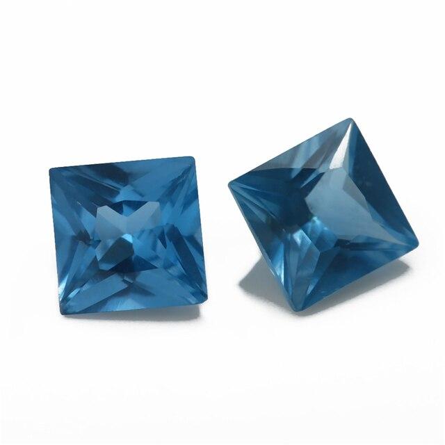 размер 3x3 мм ~ 10x10 синяя квадратная форма фотоэлемент украшений фотография