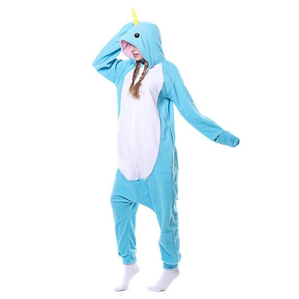 Halloween Animal Narwhal Unicorn Costume Pajamas Onesies Sleepwear