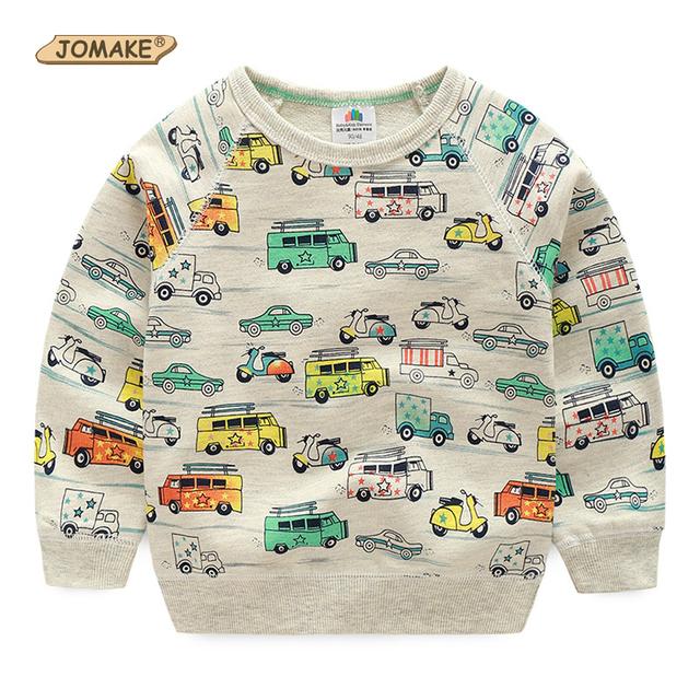 Meninos Hoodies Pulôveres Camisolas Nova Primavera Bebê Dos Desenhos Animados Carro Svitshot Camisola das Crianças Para O Menino Roupa Dos Miúdos Dos Meninos Camisetas