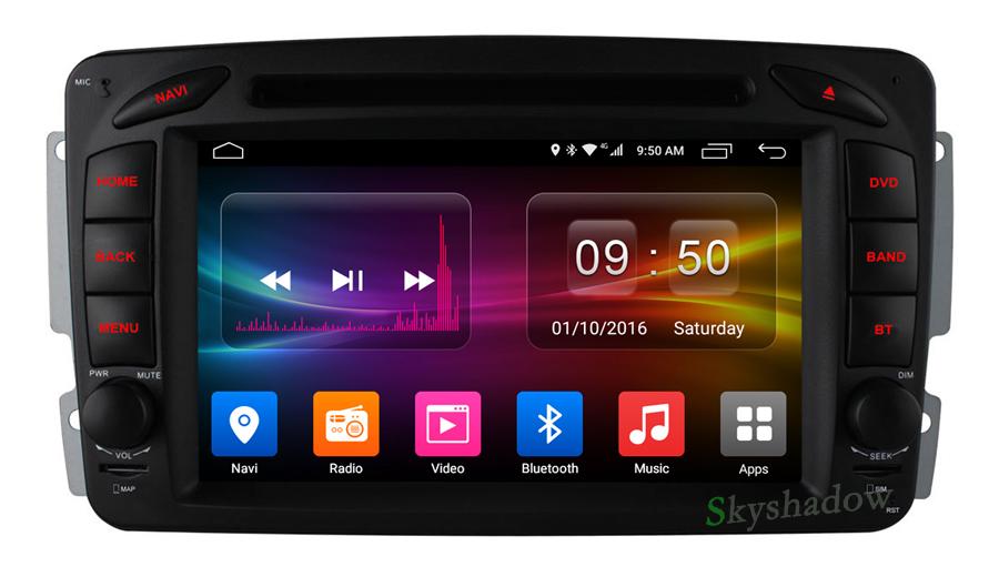Discount C500 4G SIM Android 6.0 8 Core 2GB RAM Car DVD Player RDS Radio GPS Map WIFI Bluetooth For Benz W163 W168 Viano Vito W463 W210 6
